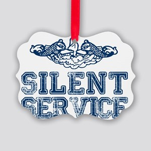 Silent Service (with Dolphins) Picture Ornament