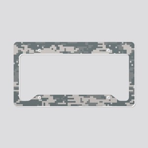 Digital camo laptop skin License Plate Holder