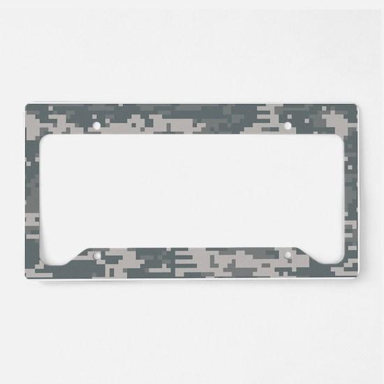 Digital camo laptop skin License Plate Holder