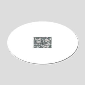 Digital camo laptop skin 20x12 Oval Wall Decal