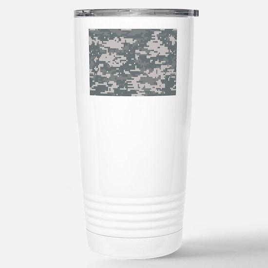 Digital camo laptop ski Stainless Steel Travel Mug