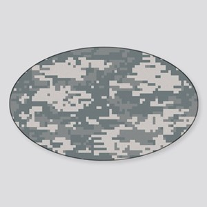 Digital camo laptop skin Sticker (Oval)