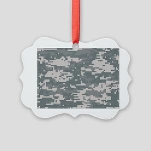 Digital camo laptop skin Picture Ornament