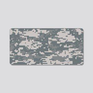 Digital camo laptop skin Aluminum License Plate