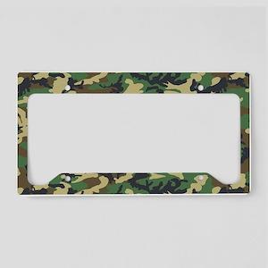Woodland camo laptop skin License Plate Holder