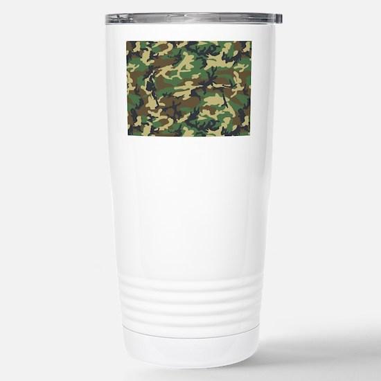 Woodland camo laptop sk Stainless Steel Travel Mug