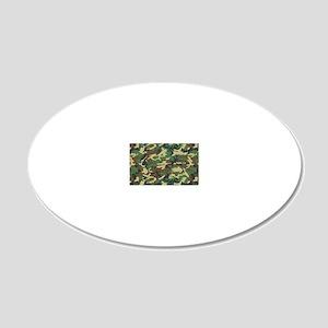 Woodland camo laptop skin 20x12 Oval Wall Decal