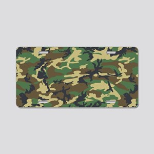 Woodland camo laptop skin Aluminum License Plate