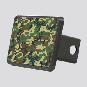 Woodland camo laptop skin Rectangular Hitch Cover