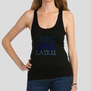 Light. Love. Latkes. Racerback Tank Top