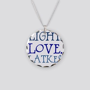 Light. Love. Latkes. Necklace Circle Charm
