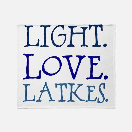 Light. Love. Latkes. Throw Blanket