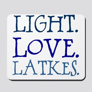 Light. Love. Latkes. Mousepad