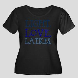 Light. L Women's Plus Size Dark Scoop Neck T-Shirt