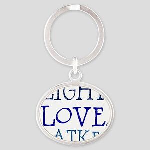 Light. Love. Latkes. Oval Keychain