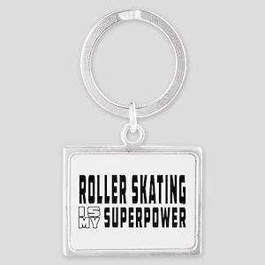 Roller Skating Is My Superpower Landscape Keychain