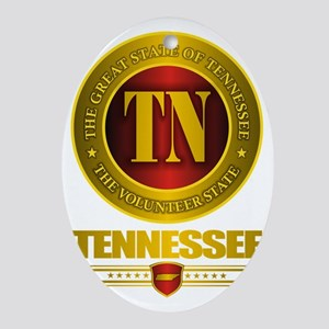 Tennessee Gold Label Oval Ornament