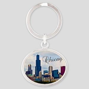 Chicago_4.25x5.5_NoteCards_Skyline Oval Keychain
