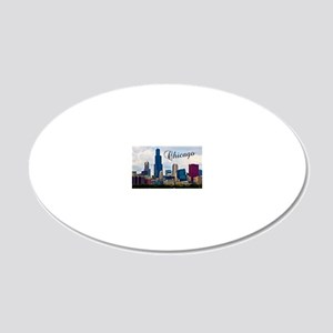 Chicago_4.25x5.5_NoteCards_S 20x12 Oval Wall Decal