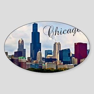 Chicago_4.25x5.5_NoteCards_Skyline Sticker (Oval)