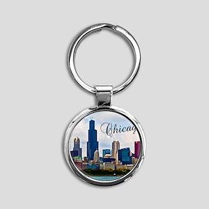 Chicago_4.25x5.5_NoteCards_Skyline Round Keychain