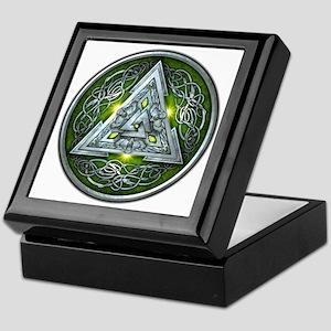 Norse Valknut - Green Keepsake Box