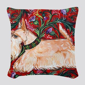 Wheaten Scottish Terrier on Re Woven Throw Pillow
