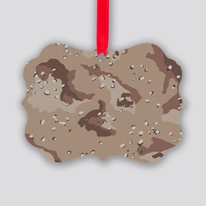 Desert camo laptop skin Picture Ornament