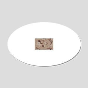 Desert camo laptop skin 20x12 Oval Wall Decal