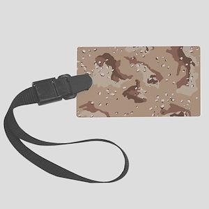 Desert camo laptop skin Large Luggage Tag