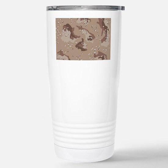 Desert camo laptop skin Stainless Steel Travel Mug