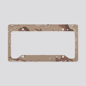 Desert camo laptop skin License Plate Holder