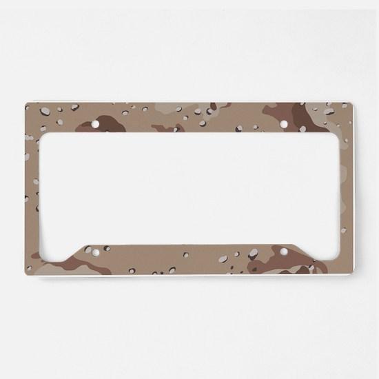 Desert camo laptop skin License Plate Holder