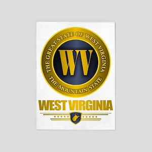 West Virginia Gold Label 5'x7'Area Rug