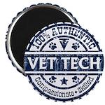100% Authentic Vet Tech (Blue) Magnets