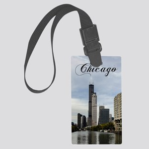 Chicago_5.5x8.5_Journal_Skyline Large Luggage Tag