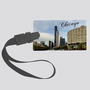 Chicago_10X8_puzzle_mousepad_Sky Large Luggage Tag