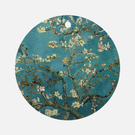 Van Gogh Almond Branches In Bloom Round Ornament