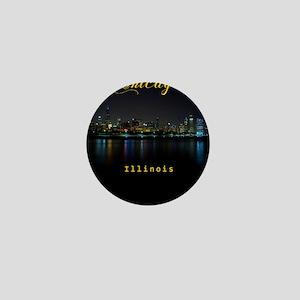 Chicago_ornament_oval_Skyline Mini Button