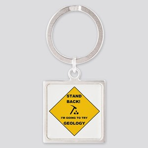 Stand Back Geo 1 Square Keychain