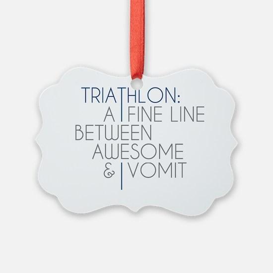 Triathlon Awesome Vomit Ornament