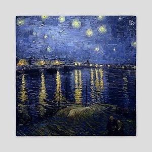 Van Gogh Starry Night Over Rhone Queen Duvet