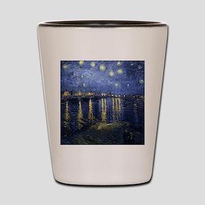 Van Gogh Starry Night Over Rhone Shot Glass