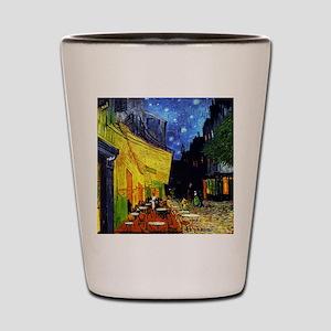 Van Gogh Cafe Terrace At Night Shot Glass