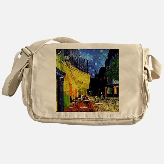 Van Gogh Cafe Terrace At Night Messenger Bag