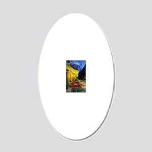 Van Gogh Cafe Terrace At Nig 20x12 Oval Wall Decal