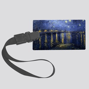 Van Gogh Starry Night Over Rhone Large Luggage Tag