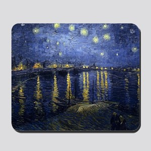 Van Gogh Starry Night Over Rhone Mousepad