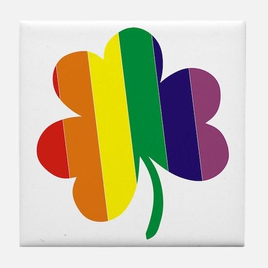 Irish Pride Shamrock Tile Coaster
