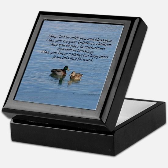 Irish Marriage Blessing Keepsake Box